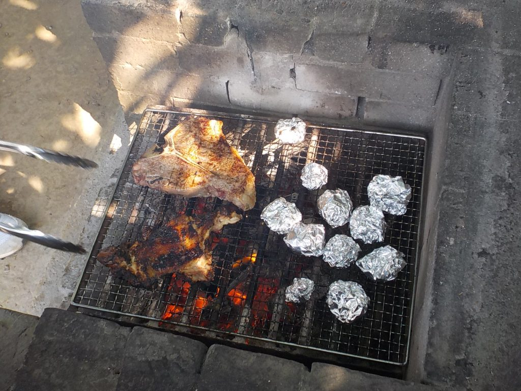 BBQが熱い